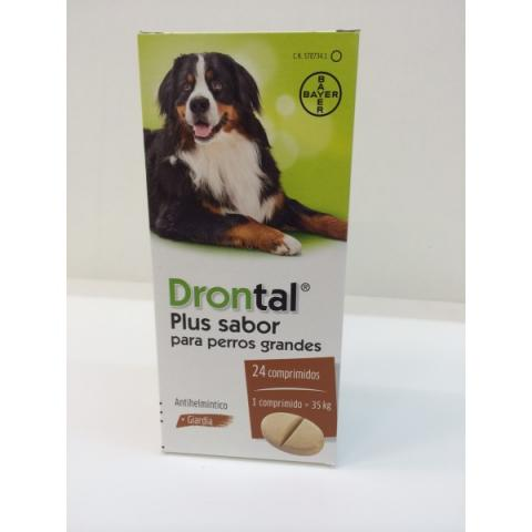 DRONTAL PLUS SABOR PERROS GRANDES 24 comp