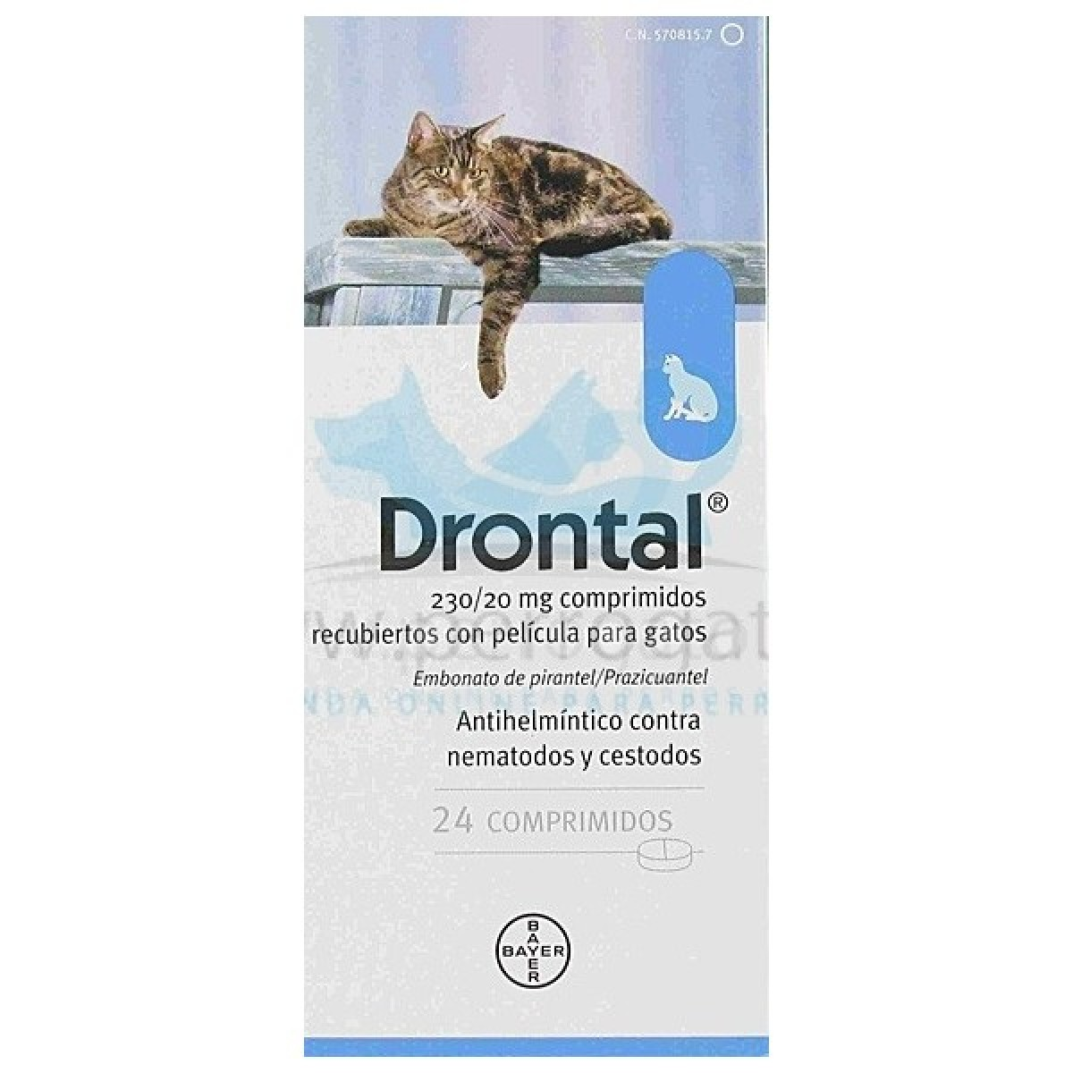 DRONTAL GATOS 24 COMP