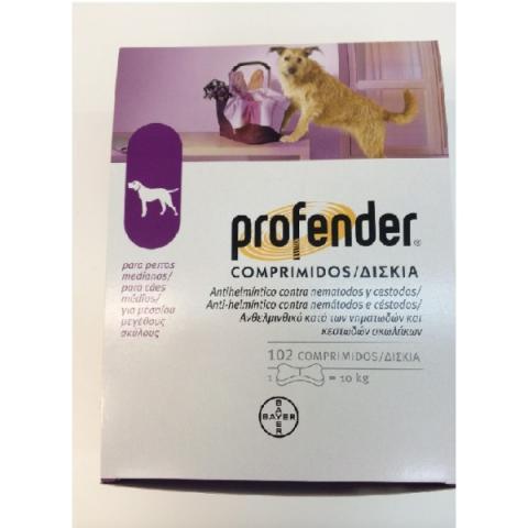 PROFENDER Perro 10 Kg. 102 comp.