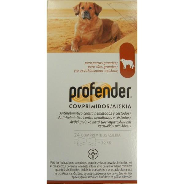 PROFENDER Perro 30 kg.  24 comprimidos