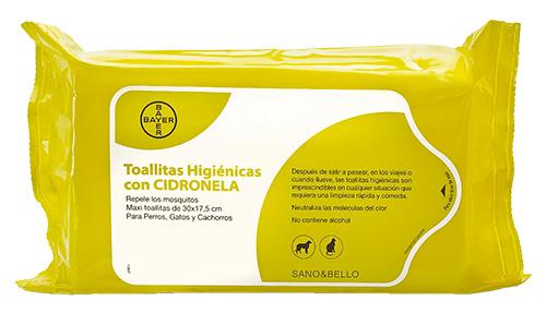 TOALLITAS HIGIENICAS CIDRONELA 35 U