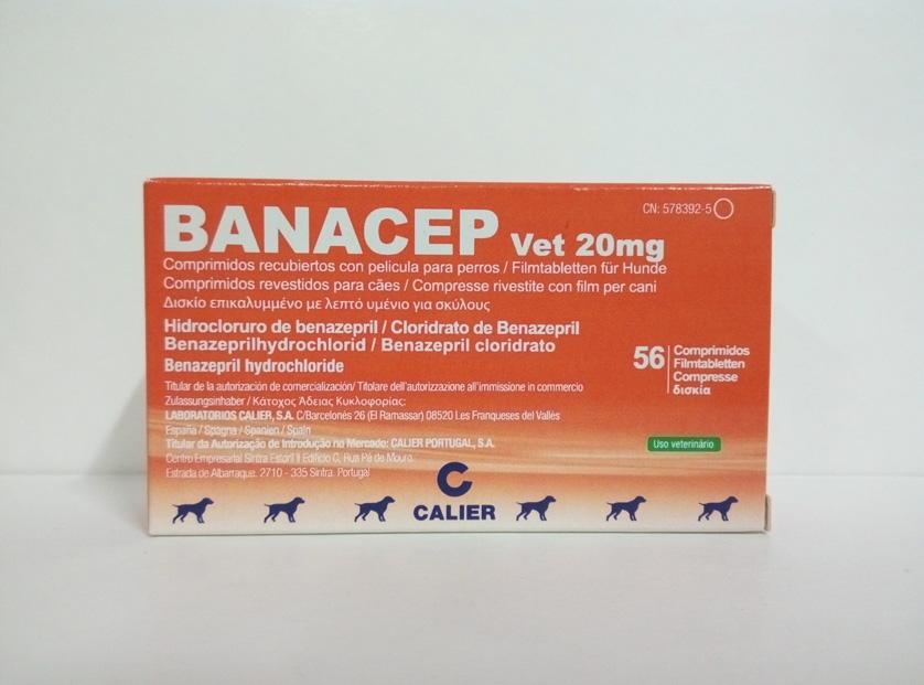 BANACEP Vet 20mg - 56 Comprimidos