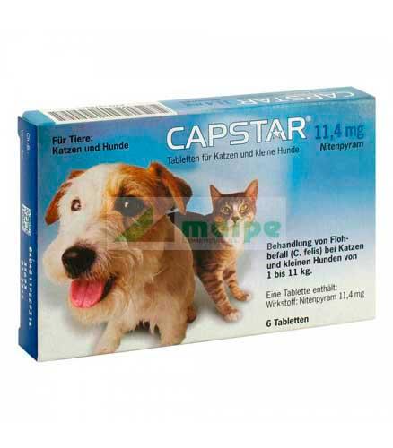 CAPSTAR 11,4mg - 6 Comprimidos (azul)
