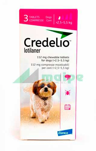 CREDELIO 112 (2.5 - 5.5kg) 3 comprimidos (fucsia)