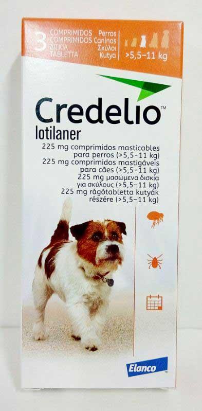 CREDELIO 225 (5.5 - 11kg) 3 comprimidos (naranja)