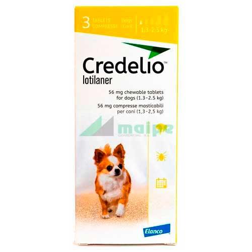 CREDELIO 56 (1.3 - 2.5kg) 3 comprimidos (amarillo)