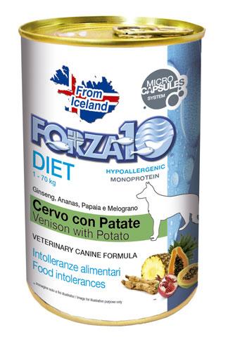 FORZA10 Lata DIET PERRO Ciervo con Patata 400g