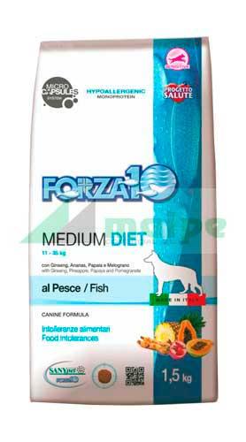 FORZA10 MEDIUM DIET PERRO Pescado 1.5kg