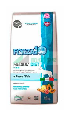 FORZA10 MEDIUM DIET PERRO Pescado 12kg (PROMO)