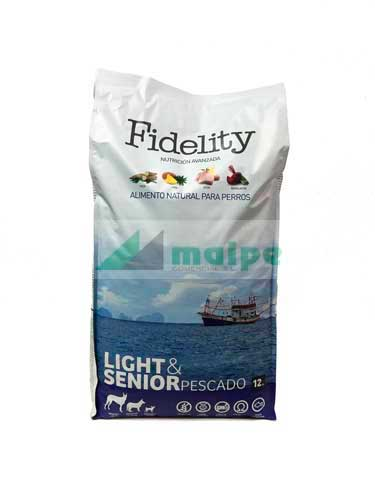 Fidelity Light/Senior Pescado 12kg