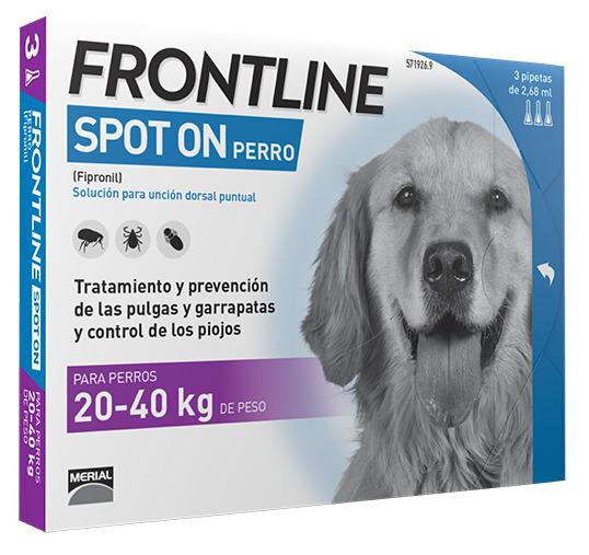 FRONTLINESPOT ON PERROS 20-40 KG 3 Pipetas