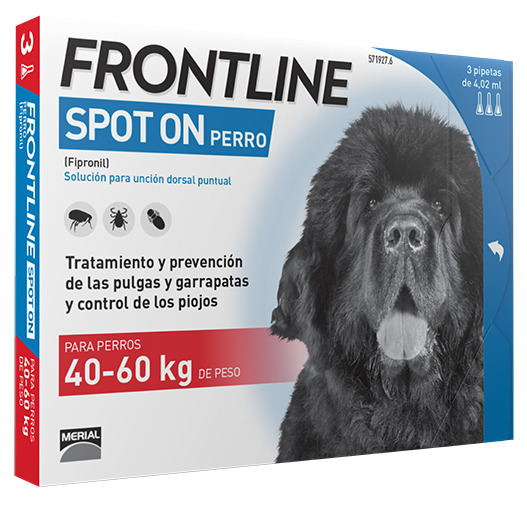 FRONTLINE SPOT ON PERRO XL 40-60KG 3 Pipetas