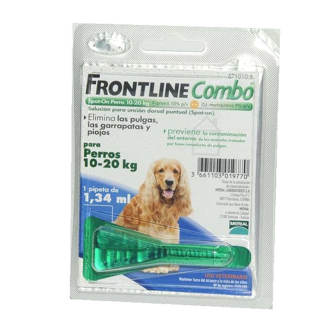 FRONTLINE COMBO MONOPIPETA 10-20Kg