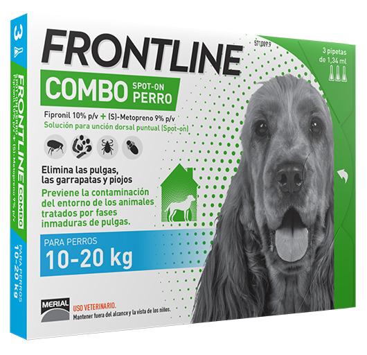 FRONTLINE COMBO PERROS  10-20 K.  3 P.