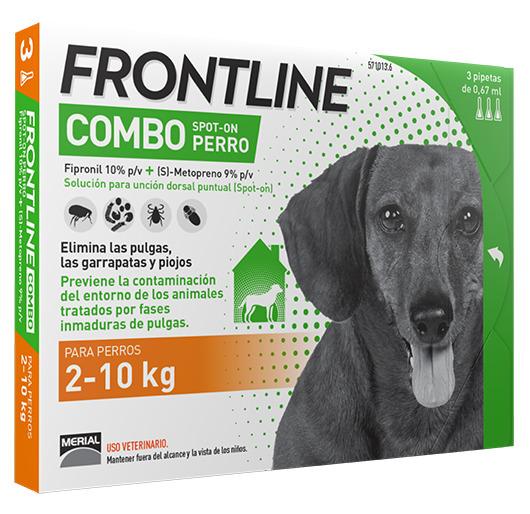 FRONTLINE COMBO PERROS 2-10 K.  3 P.