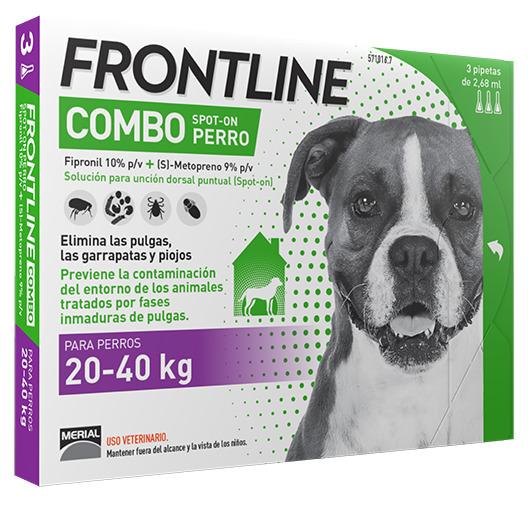 FRONTLINE COMBO PERROS 20-40 K.  3 P.