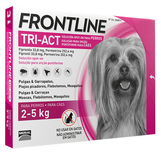 FRONTLINE TRI-ACT 2-5KG 6 Pipetas