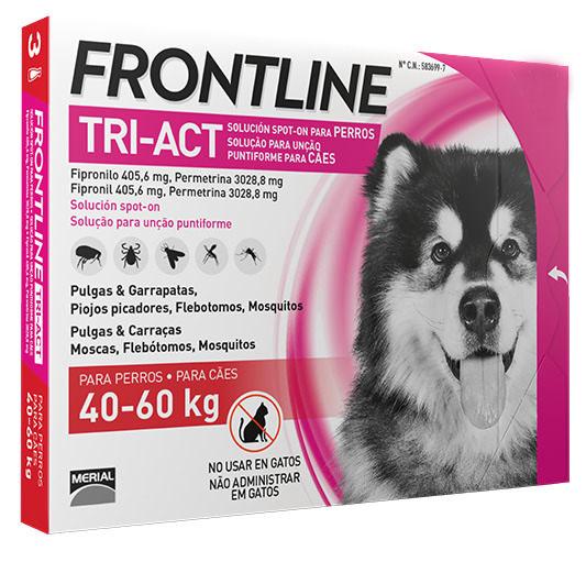 FRONTLINE TRI-ACT 40-60Kg 6 Pipetas