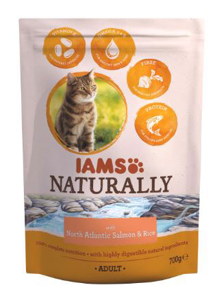 IAMS NATURALLY GATO SALMON Y ARROZ 700 GR