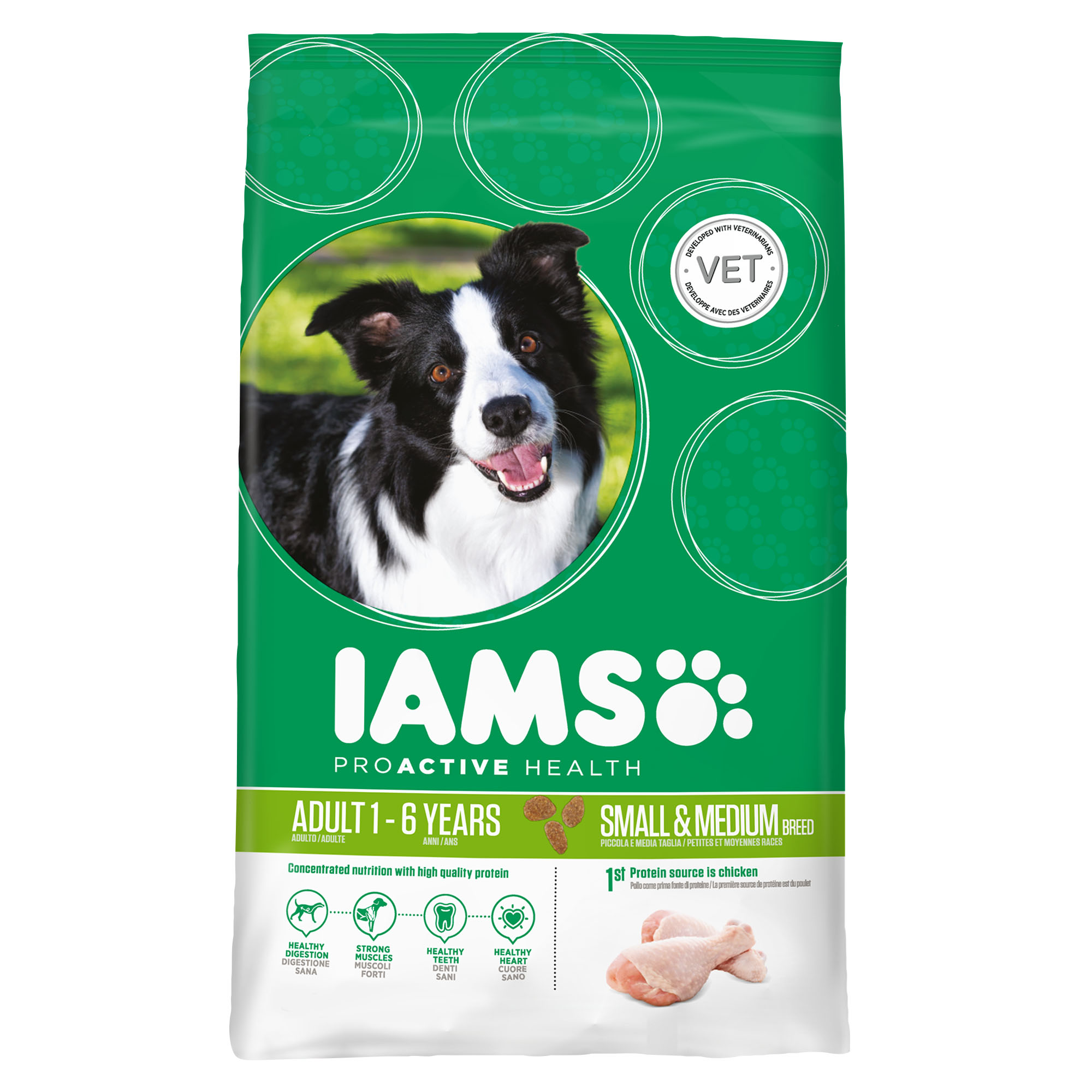 IAMS PERRO ADULT SMALL / MEDIUM 12kg