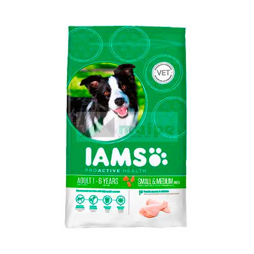 IAMS PERRO ADULT SMALL / MEDIUM 3kg