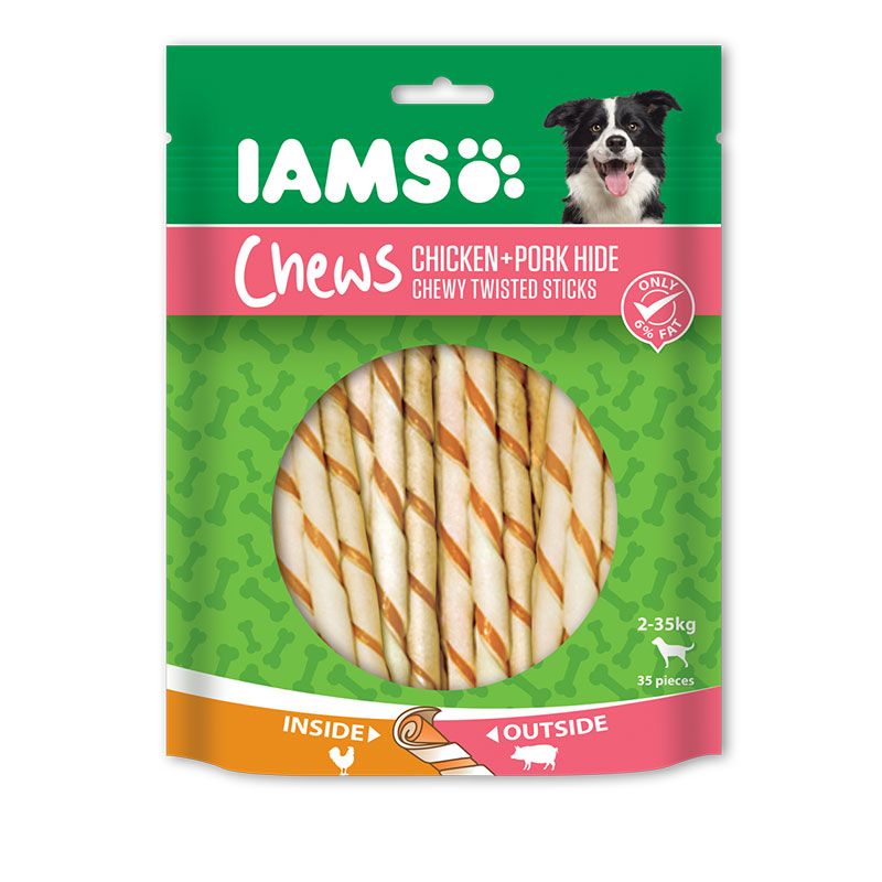 IAMS PORK TWISTED STICKS VALUE BAG