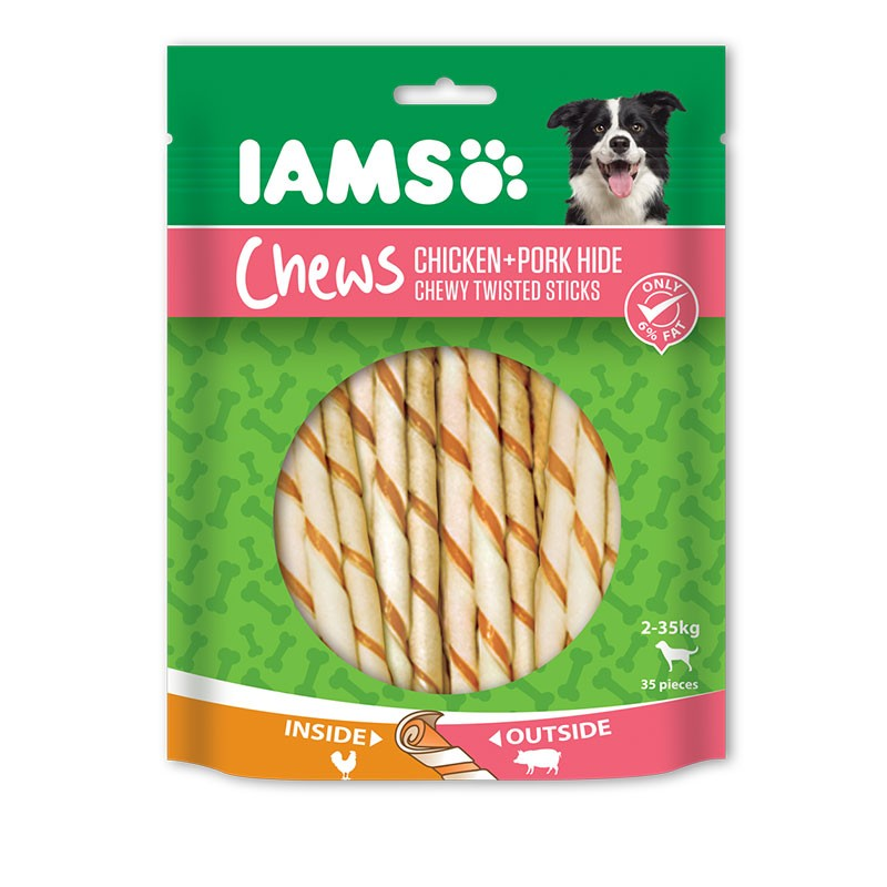 IAMS PORK TWISTED STICKS