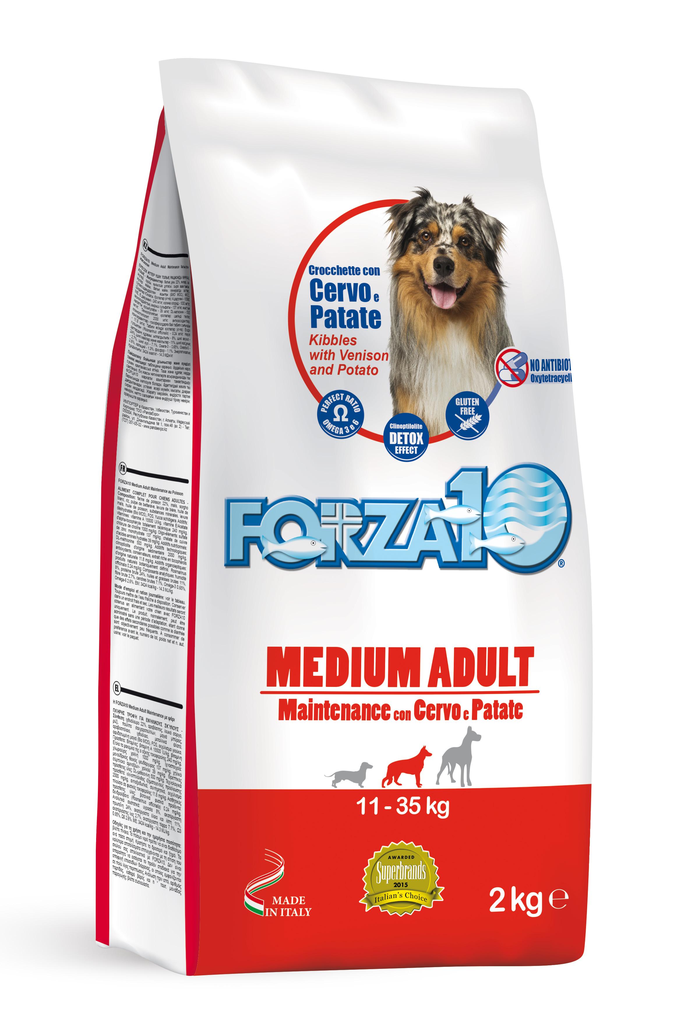 FORZA10 MEDIUM Mantenimiento Ciervo y Patata 2kg