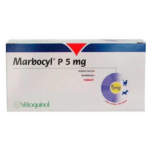 MARBOCYL P5 mg P ENV.CLIN. 100 comprimidos