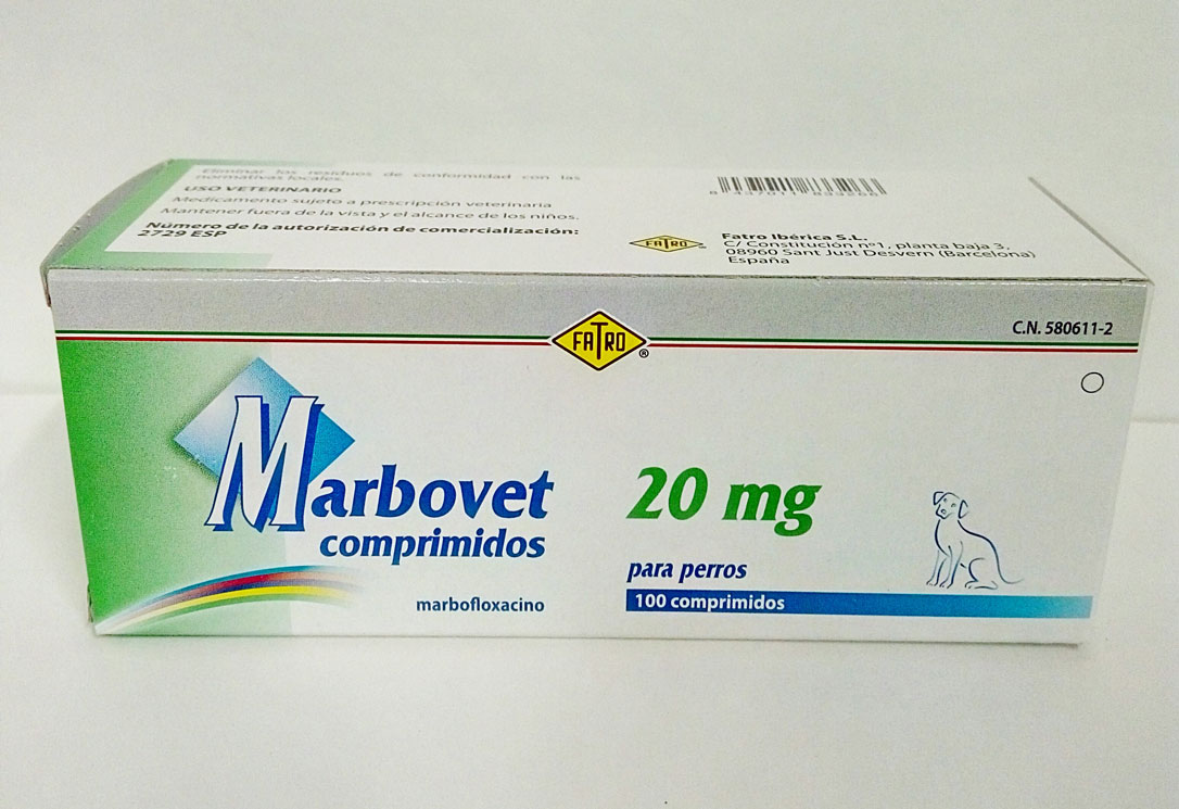 Marbovet 20mg (100 Comprimidos)