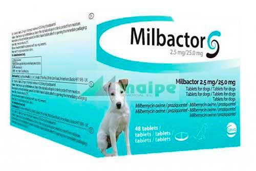 Milbactor PERROS PEQUEÑOS Y CACHORROS (48 Comprimidos)