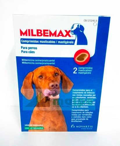 MILBEMAX Masticable 12.5 - 2 Comprimidos (Perro Grande)