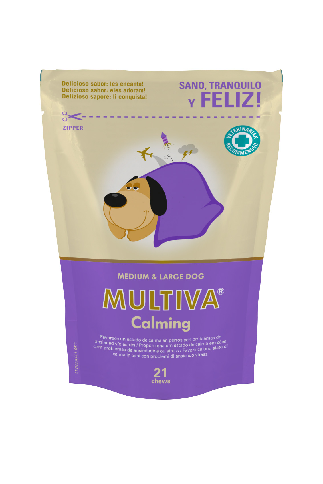 MULTIVA CALMING MEDIUM LARGE DOG 21 CHEWS