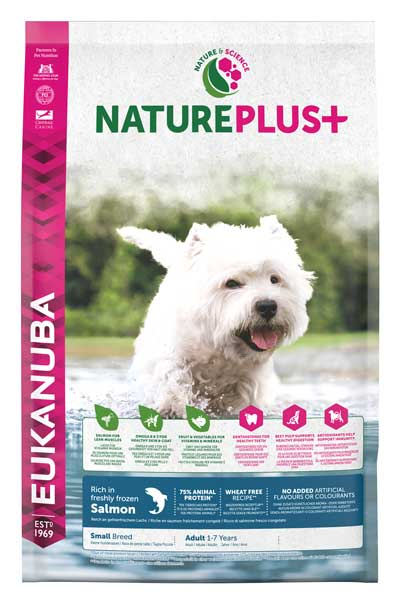 EUKANUBA PERRO ADULT SMALL SALMON NATURE 10KG.