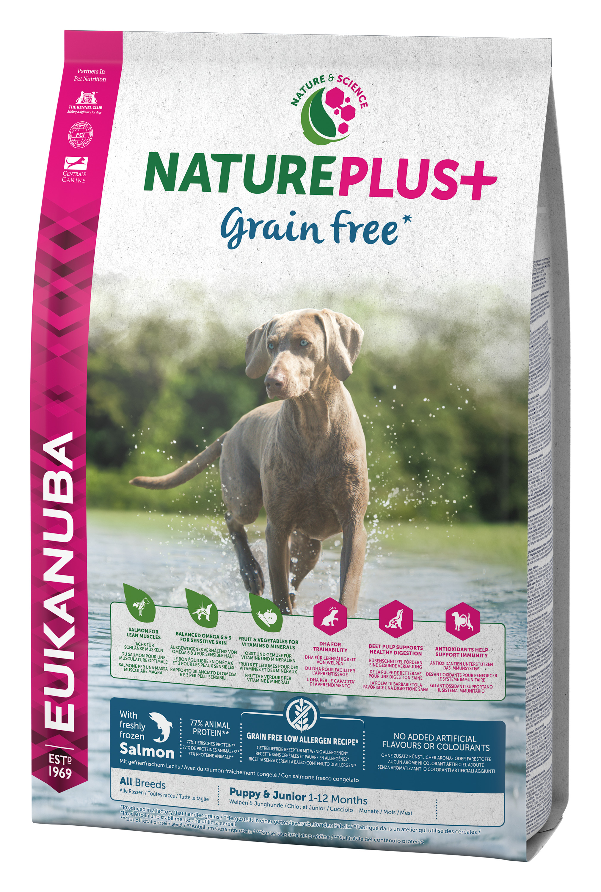 NATURE PUPPY GRAIN FREE SALMON 10 KG
