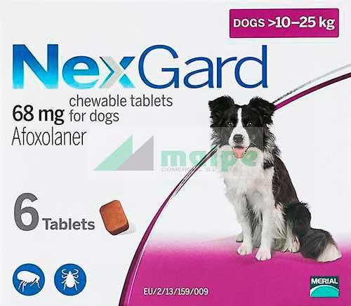 NexGard PERRO 10-25Kg 3 Comprimidos (Morado)