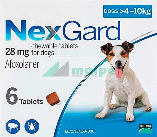 NexGard PERRO 4-10Kg 3 Comprimidos (Azul)