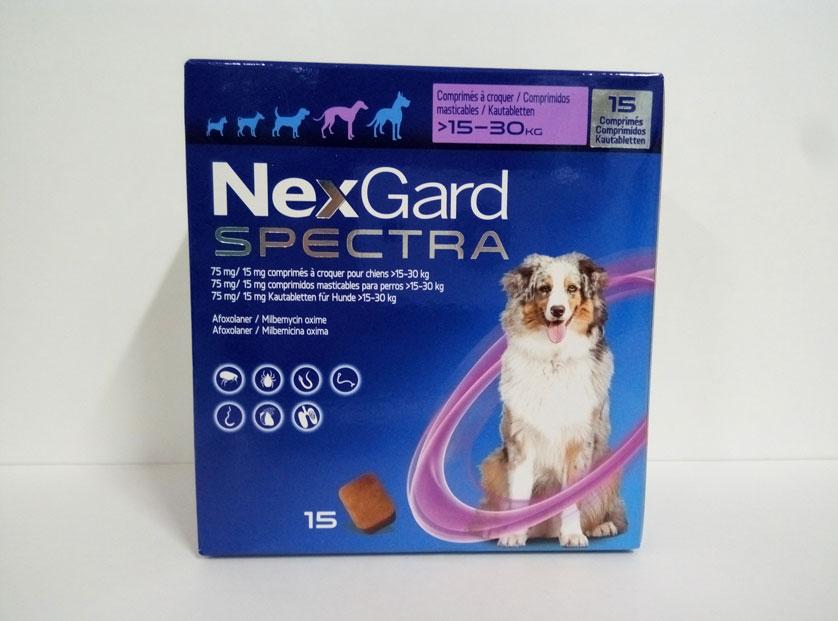 NEXGARD SPECTRA 15-30kg (15 COMPRIMIDOS)