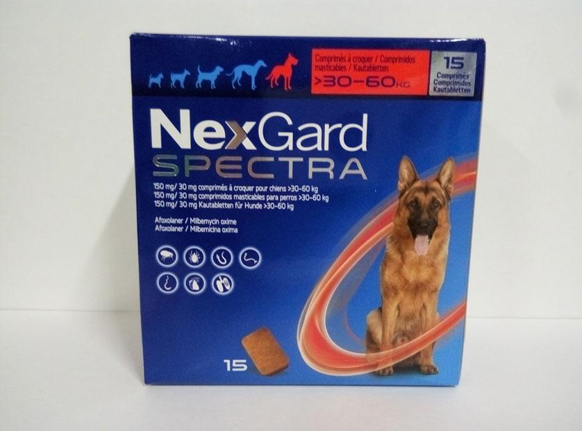 NEXGARD SPECTRA 30-60kg (15 COMPRIMIDOS)