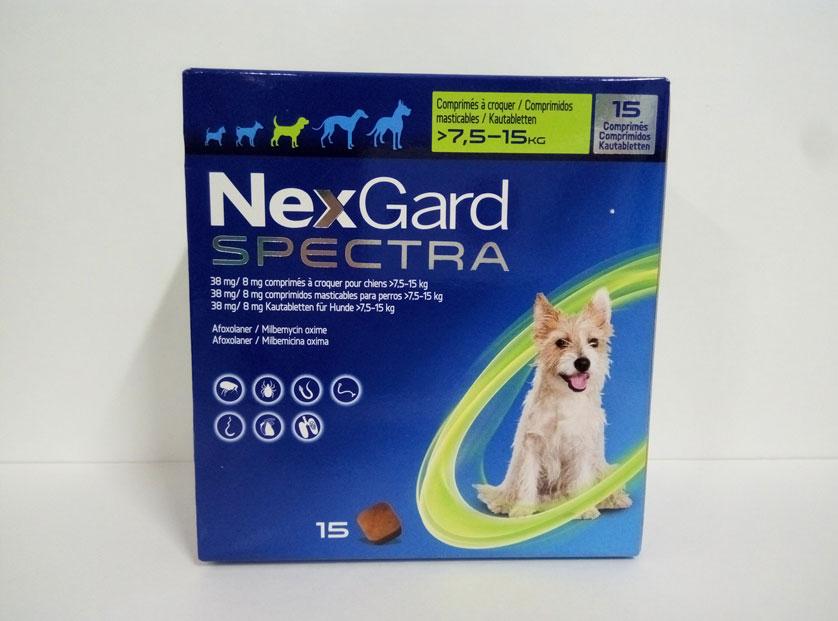 NEXGARD SPECTRA 7.5-15kg (15 COMPRIMIDOS)