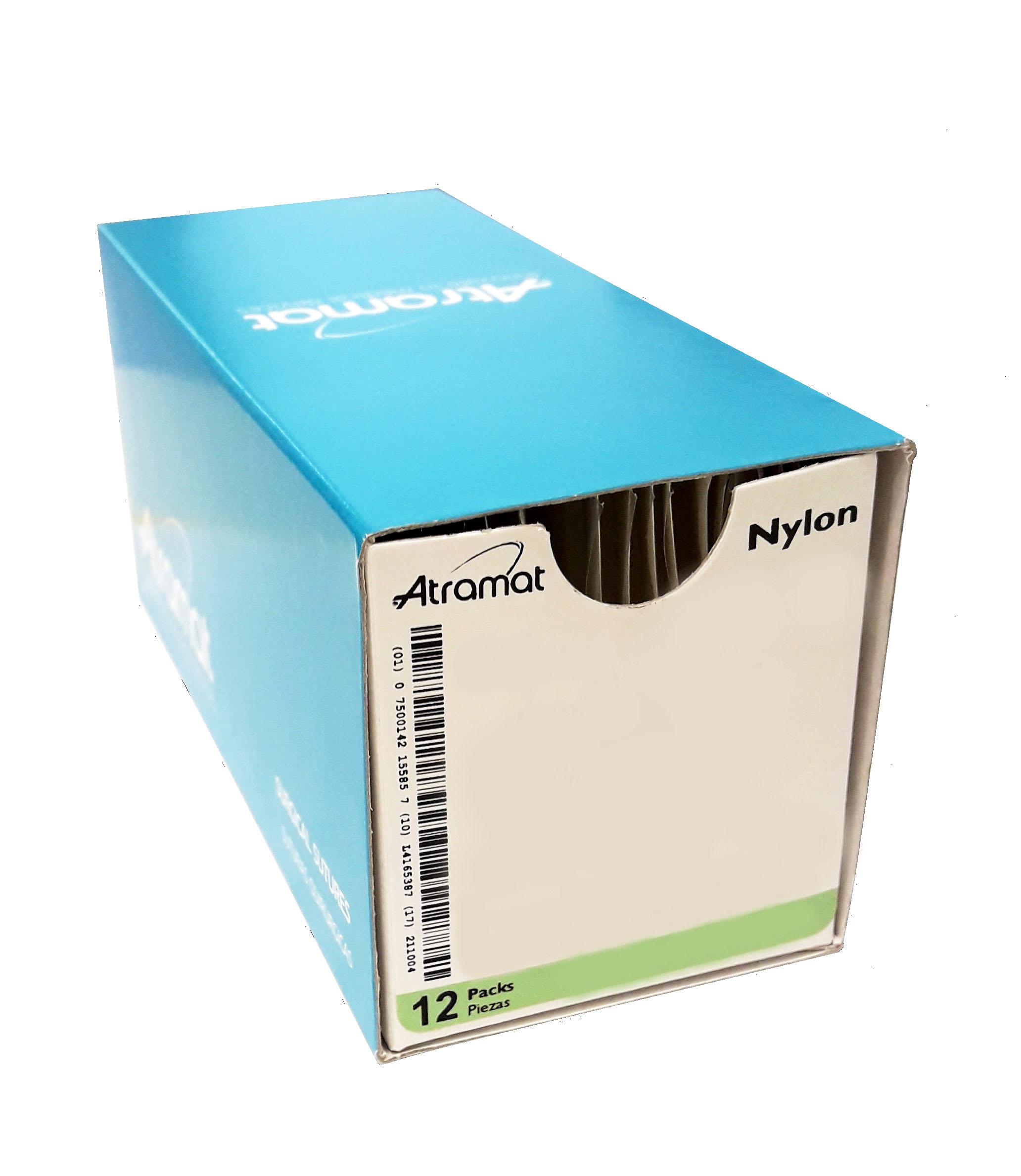 NYLON 10/0 DOBL AG ESP. 3/8CIR 6MM 30CM NEGRO 12U