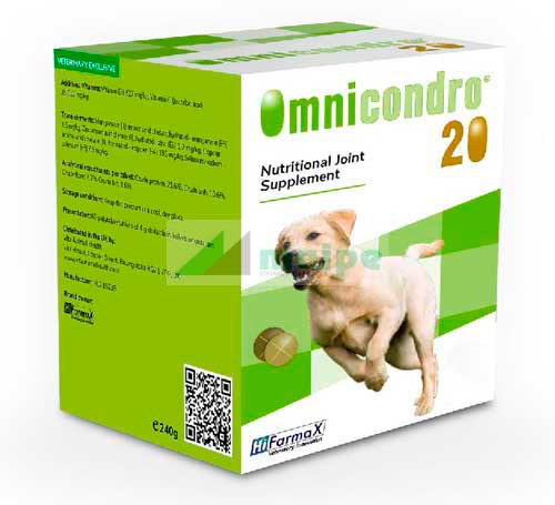 OMNICONDRO Perro 20kg - 300 Comprimidos