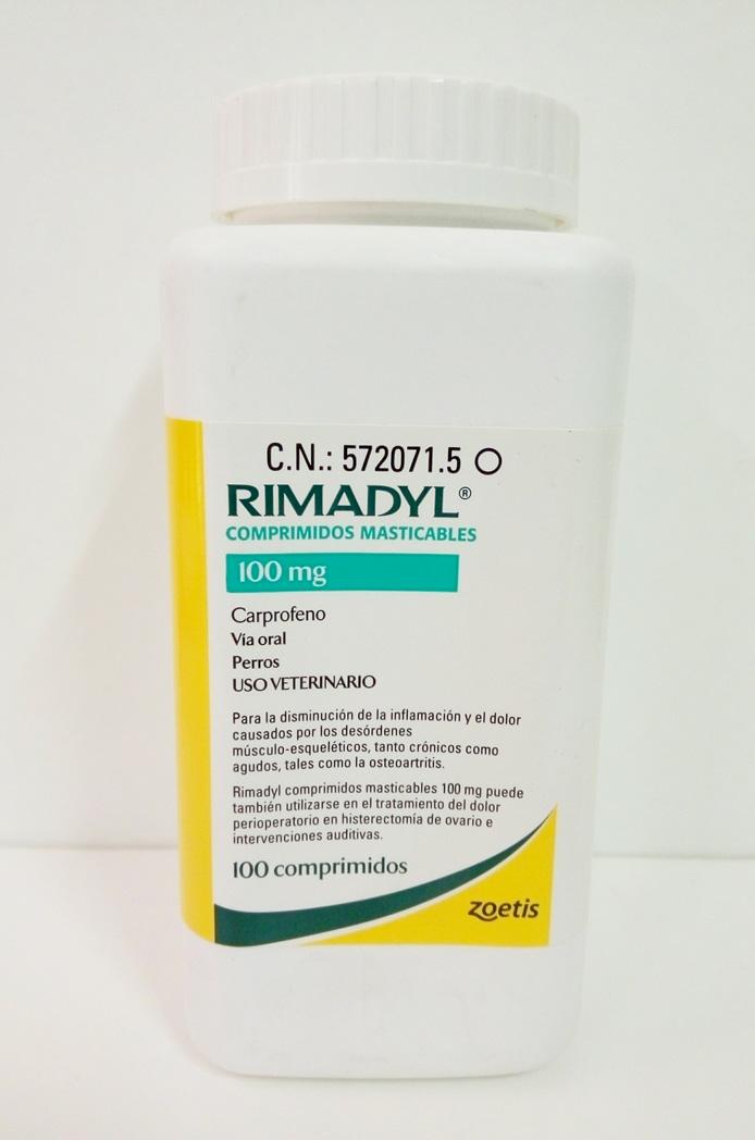 RIMADYL Masticable 100mg (100 Comprimidos)