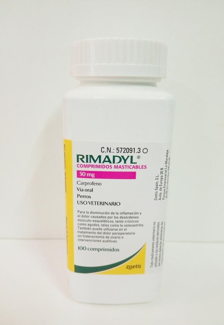 RIMADYL Masticable 50mg (100 Comprimidos)