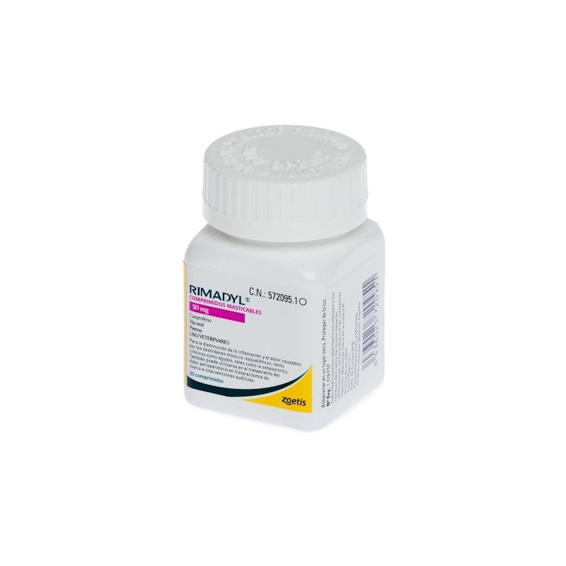 RIMADYL Masticable 50mg (20 Comprimidos)