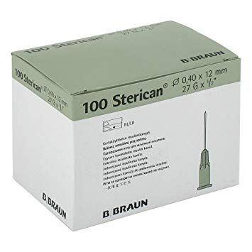 STERICAN 27Gx1/2 12MM  VERDE OSCURO (4665406)