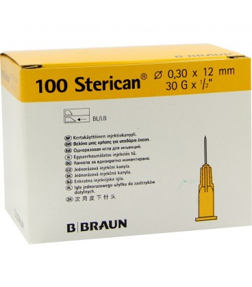 STERICAN 30Gx1/2 - 0.3x12mm AMARILLO (4656300)