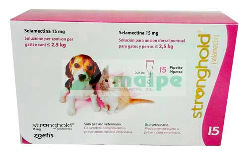 STRONGHOLD 15mg 15 Pipetas