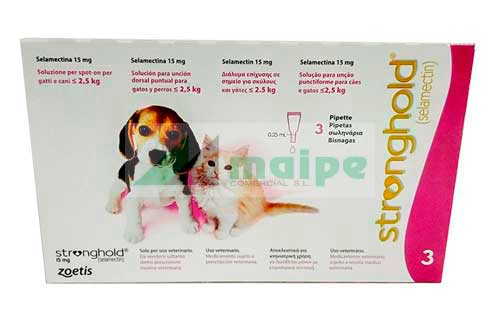 STRONGHOLD CACHORROS 15mg 3 Pipetas