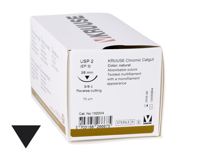 SUTURA CATGUT Chromic USP 2-0 70cm 26mm 3/8 Circular